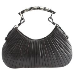 Dreamy Tom Ford YSL FW 2002 Ribbed Chocolate Leather Runway & Ad Campaign Bag!