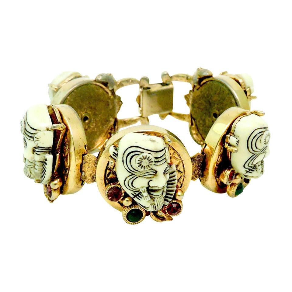 Famous Vintage Rare Selro Noho Ivory colored Devil Bracelet 1