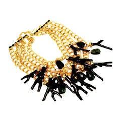 Oscar de la Renta Vintage Multi-Strand Link Necklace