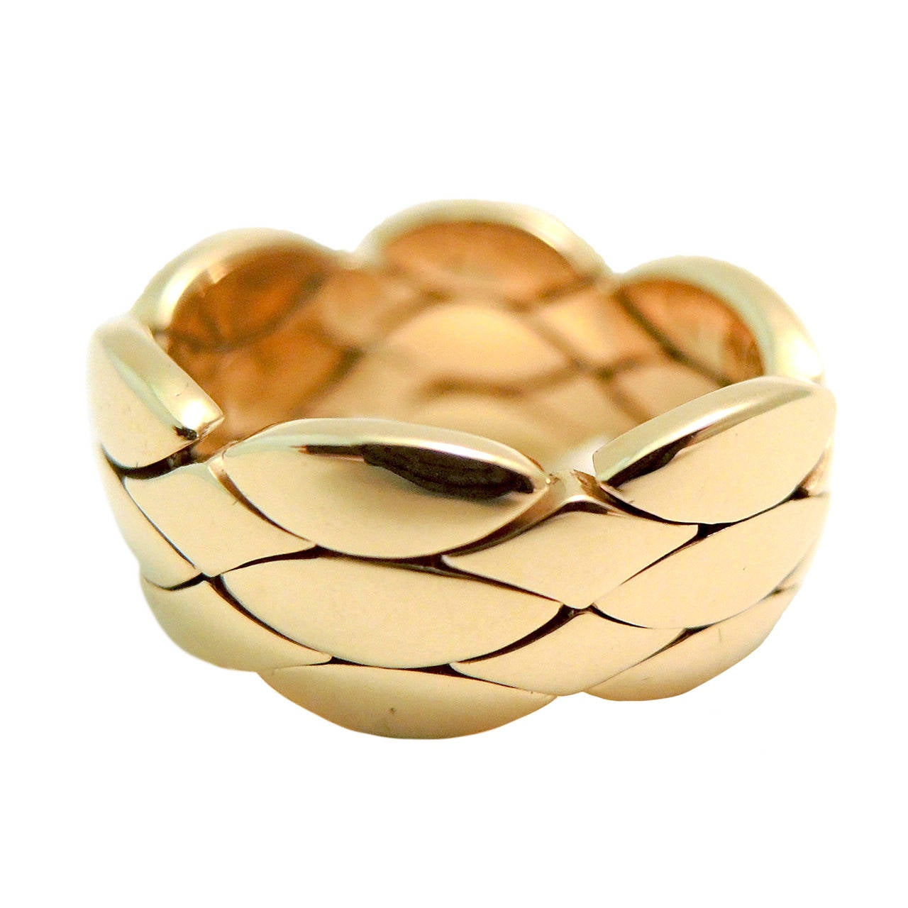 Cartier Flexible Gold Weave Ring At 1stdibs