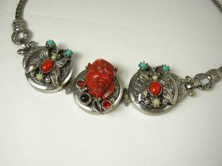 Famous Vintage Selro Red Devil Necklace, Earrings And Bracelet Set 4