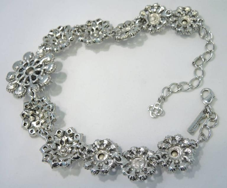 vintage oscar de la renta crystal necklace for sale at 1stdibs