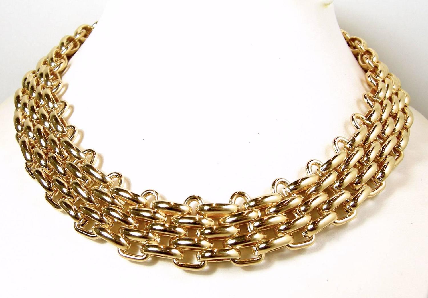 Vintage 1960s Christian Dior Germany Gold Plated Necklace ...