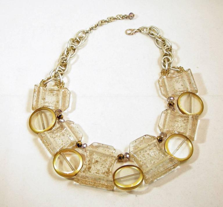Vintage 1950s Lucite Spheres Necklace 3