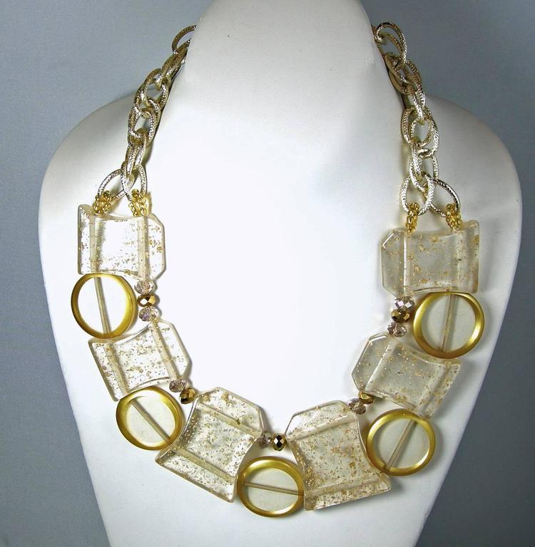 Vintage 1950s Lucite Spheres Necklace 2