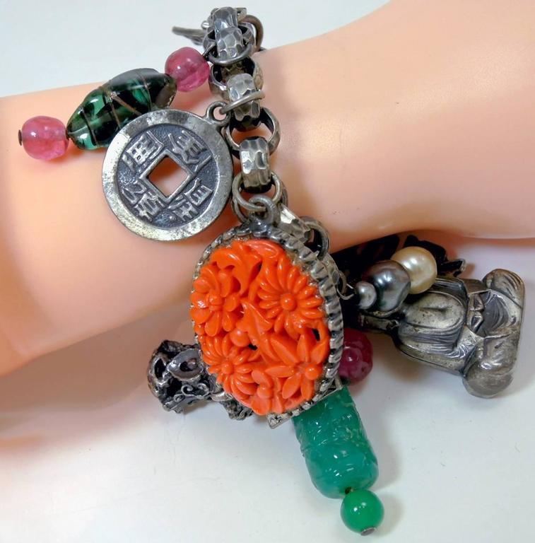 Napier Is Known For These Beautifully Creative Charm Bracelets This One Has Four Diffe Asian