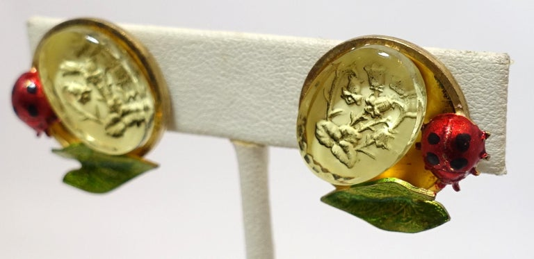 Vintage Signed Claudine Vilry Paris Earrings In Excellent Condition For Sale In New York, NY