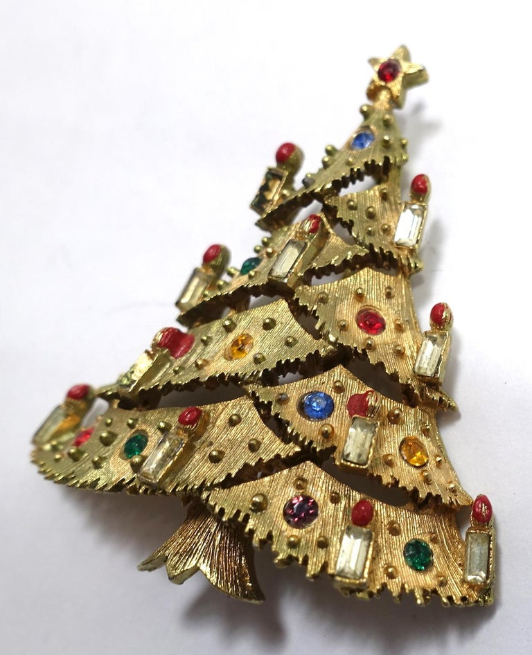 71deeae70 Vintage Signed JJ Christmas Holiday Tree In Excellent Condition For Sale In  New York, NY