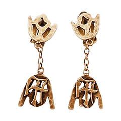 Vintage Joseff Asian Theme Earrings