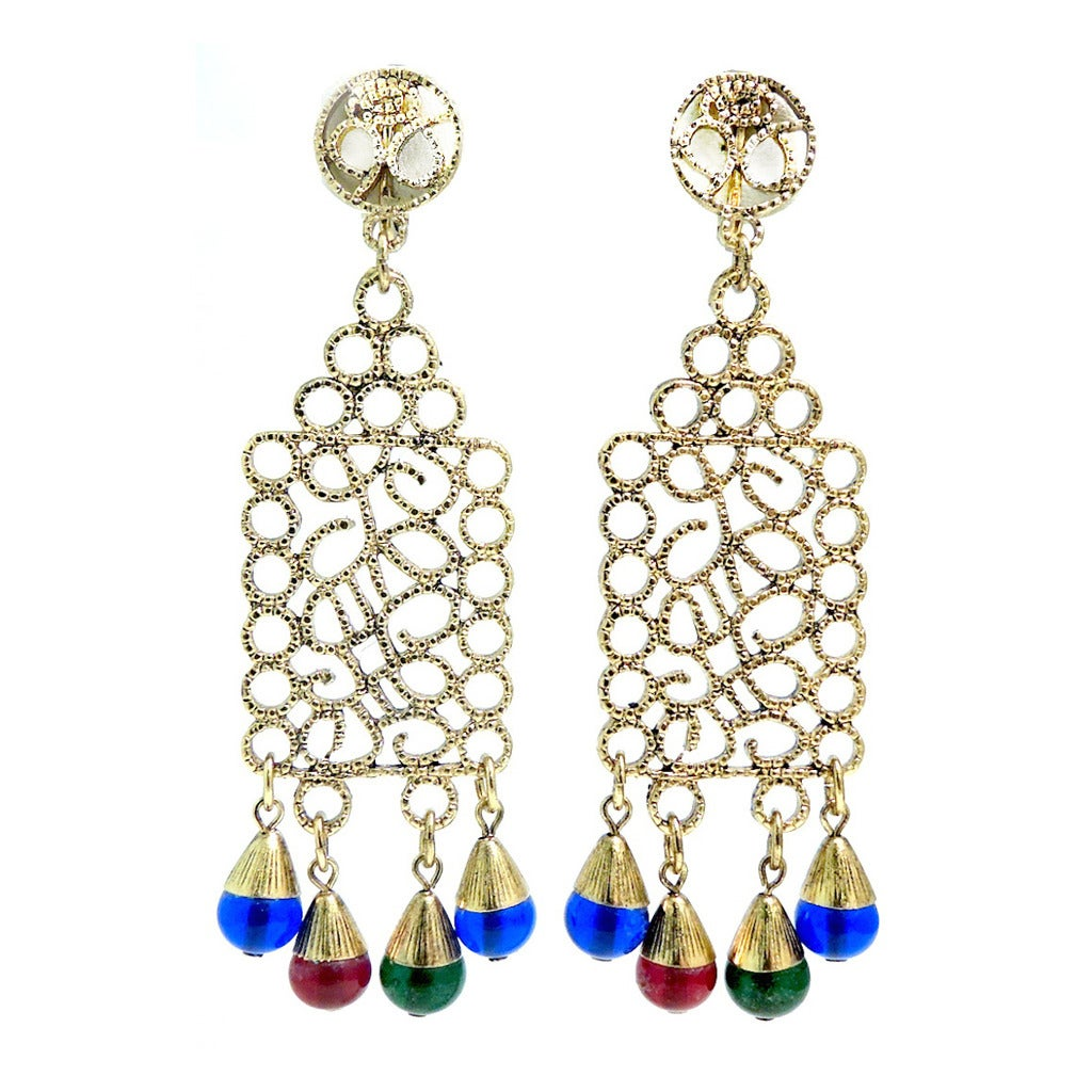 vintage signed trifari earrings at 1stdibs