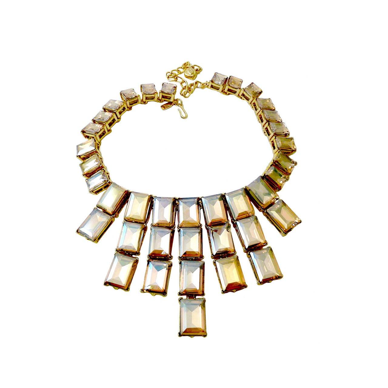 Kenneth J. Lane Citrine Crystal Necklace For Sale