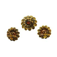 Joseff Vintage Bumble Bee Pin and Earrings