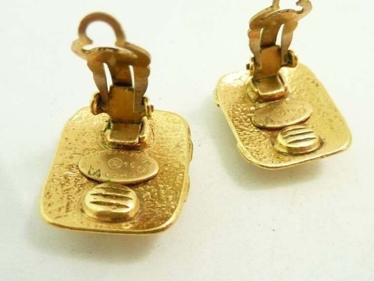 Vintage Signed Chanel 94A Logo Earrings 3
