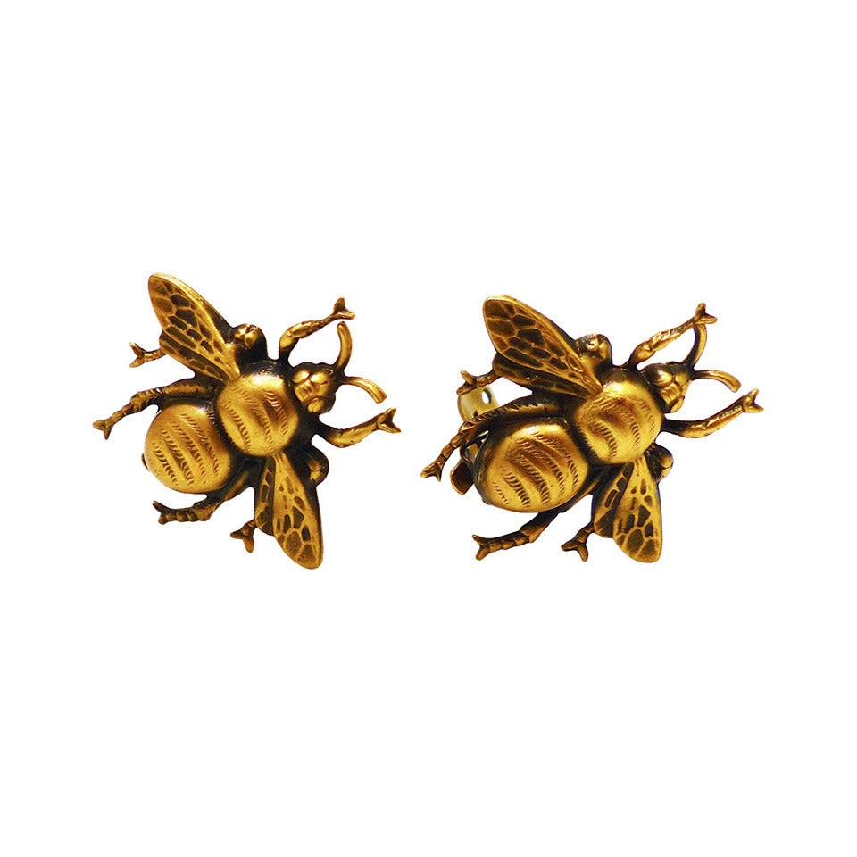 Famous Vintage Signed Joseff Bumble Bee Earrings At 1stdibs