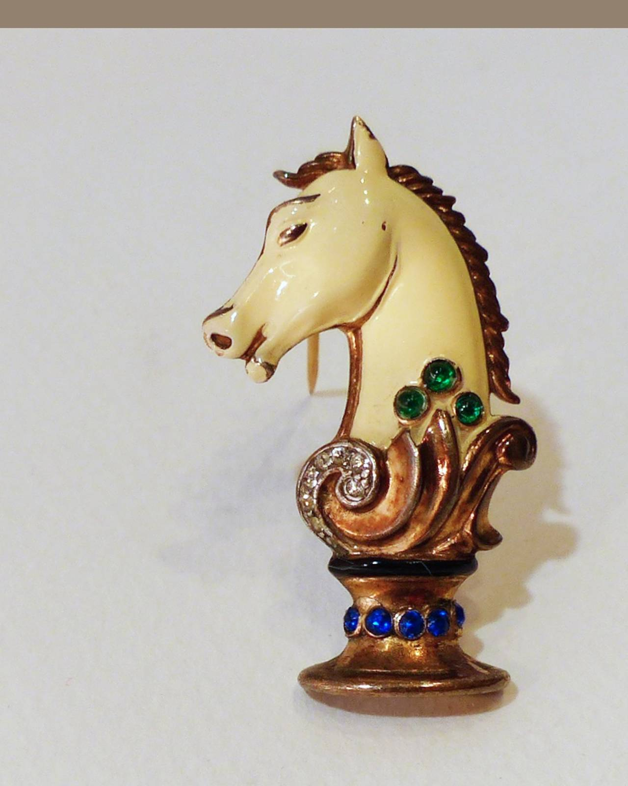 Rare Vintage 1930 S Trifari Chess Set Fur Clip Pins And