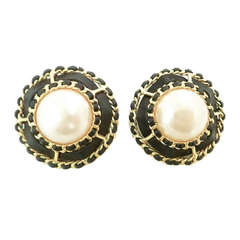 Chanel 25 Large Vintage Earrings