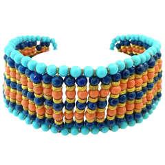 Vintage Signed DeLillo Collar Necklace