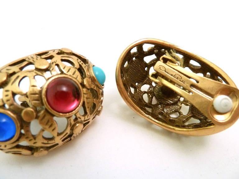 vintage oscar de la renta earrings for sale at 1stdibs