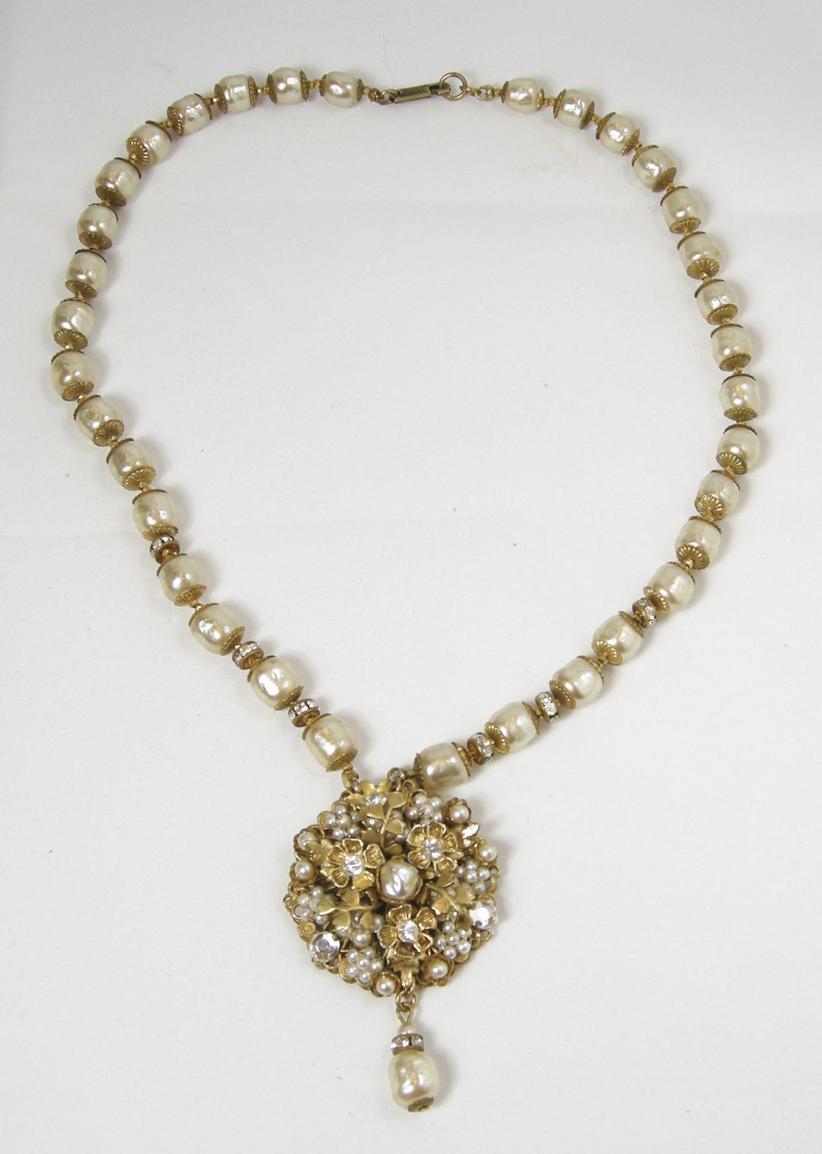 vintage miriam haskell 1950s faux pearl necklace at 1stdibs