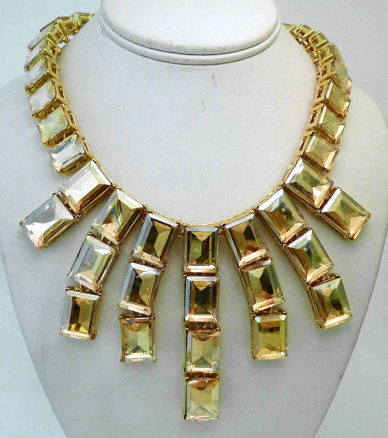 Contemporary  Kenneth J. Lane Citrine Crystal Necklace For Sale