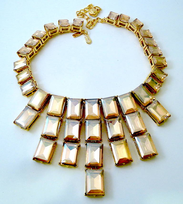 Kenneth J. Lane Citrine Crystal Necklace In Excellent Condition For Sale In New York, NY