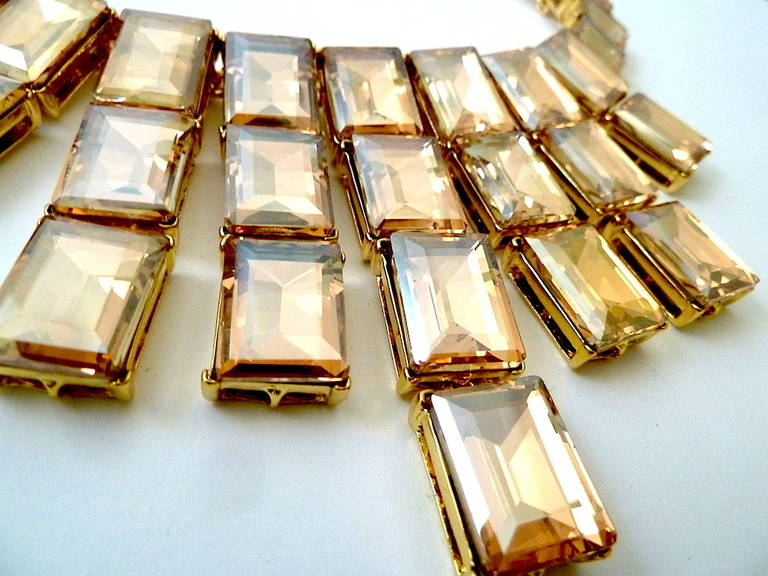 Women's  Kenneth J. Lane Citrine Crystal Necklace For Sale