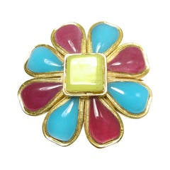 Vintage Authentic Chanel Gripoix Brooch/Pin