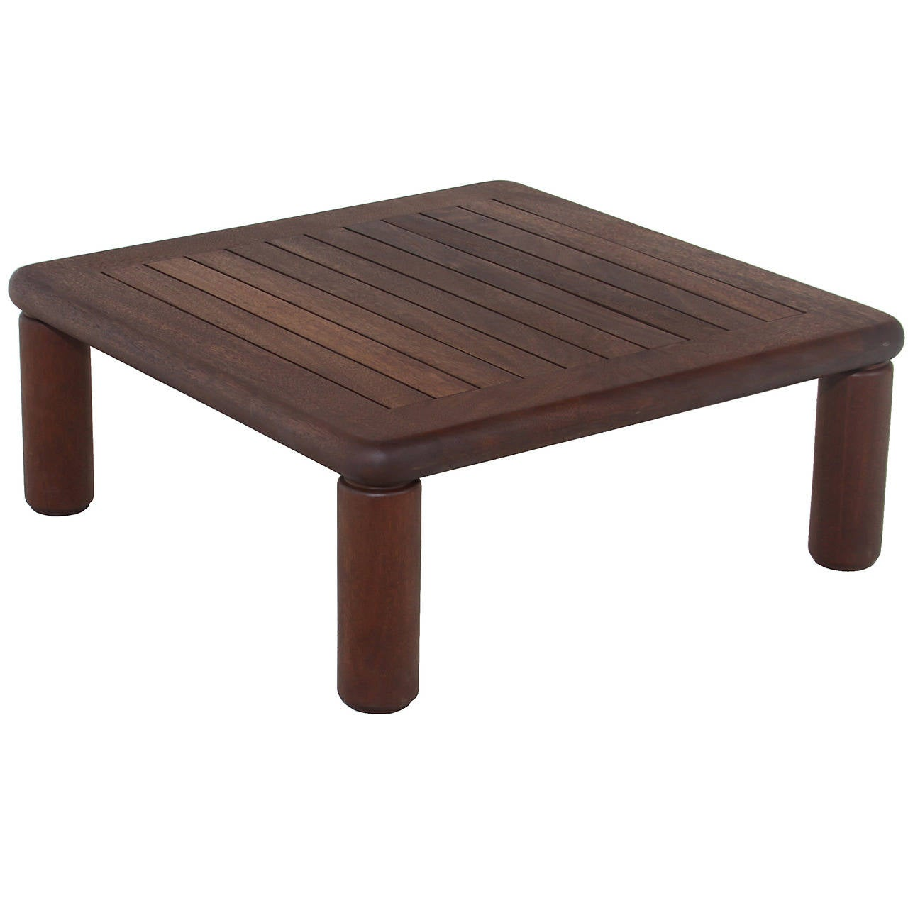 Slatted Solid Honduran Mahogany coffee table by Sherrill Broudy
