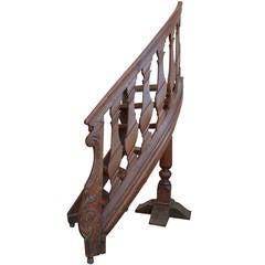 European Library Ladder, Partial, 18th Century