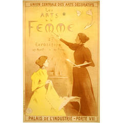 Original Paris Women's Art Exhibition Poster