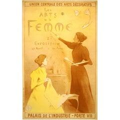 Original Paris Women's Art Exhibition Poster