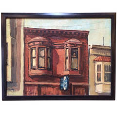 Large architectural painting by martin bovill at 1stdibs for Martin wade landscape architects