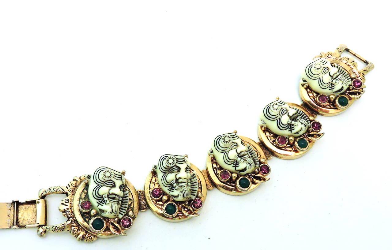 Famous Vintage Rare Selro Noho Ivory colored Devil Bracelet 2
