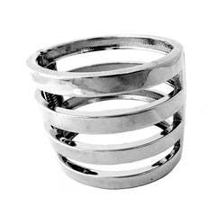 Kenneth J. Lane Silvertone Clamper Bracelet