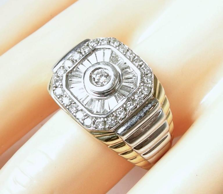 1960s Diamond Two Color Gold Ring For Sale 2