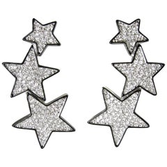 Kenneth Jay Lane Star Clip Earrings