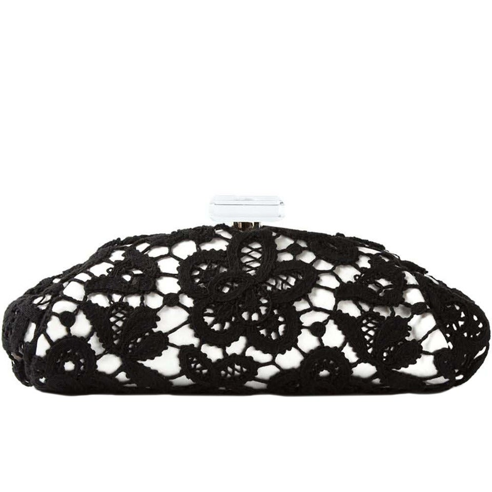 Chanel Large Floral Lace Clutch For Sale