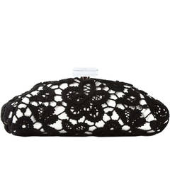 Chanel Large Floral Lace Clutch