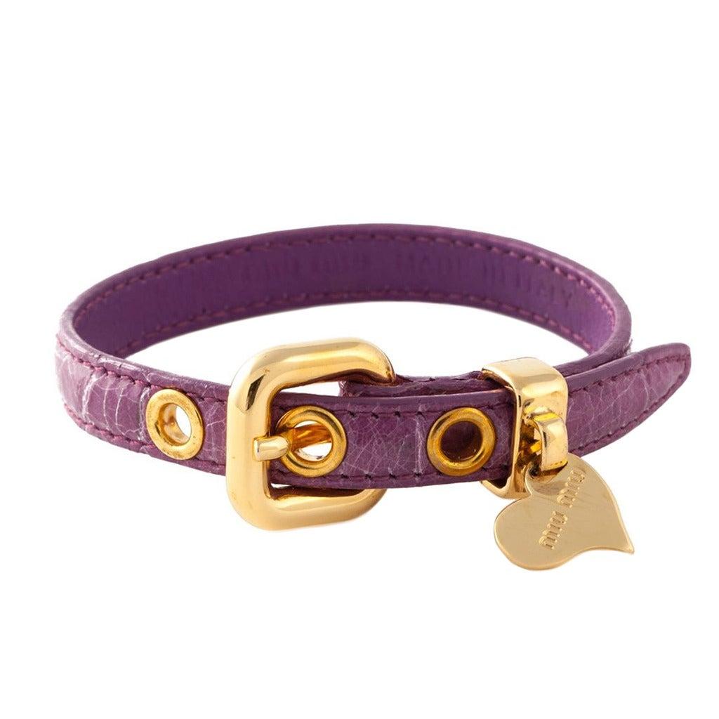 Miu Miu 'St. Cocco' Purple Bracelet 1