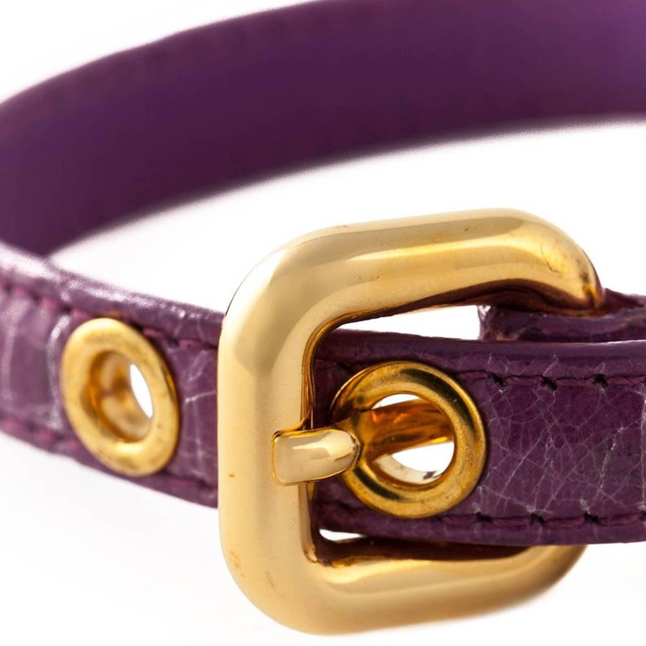 Miu Miu 'St. Cocco' Purple Bracelet 2