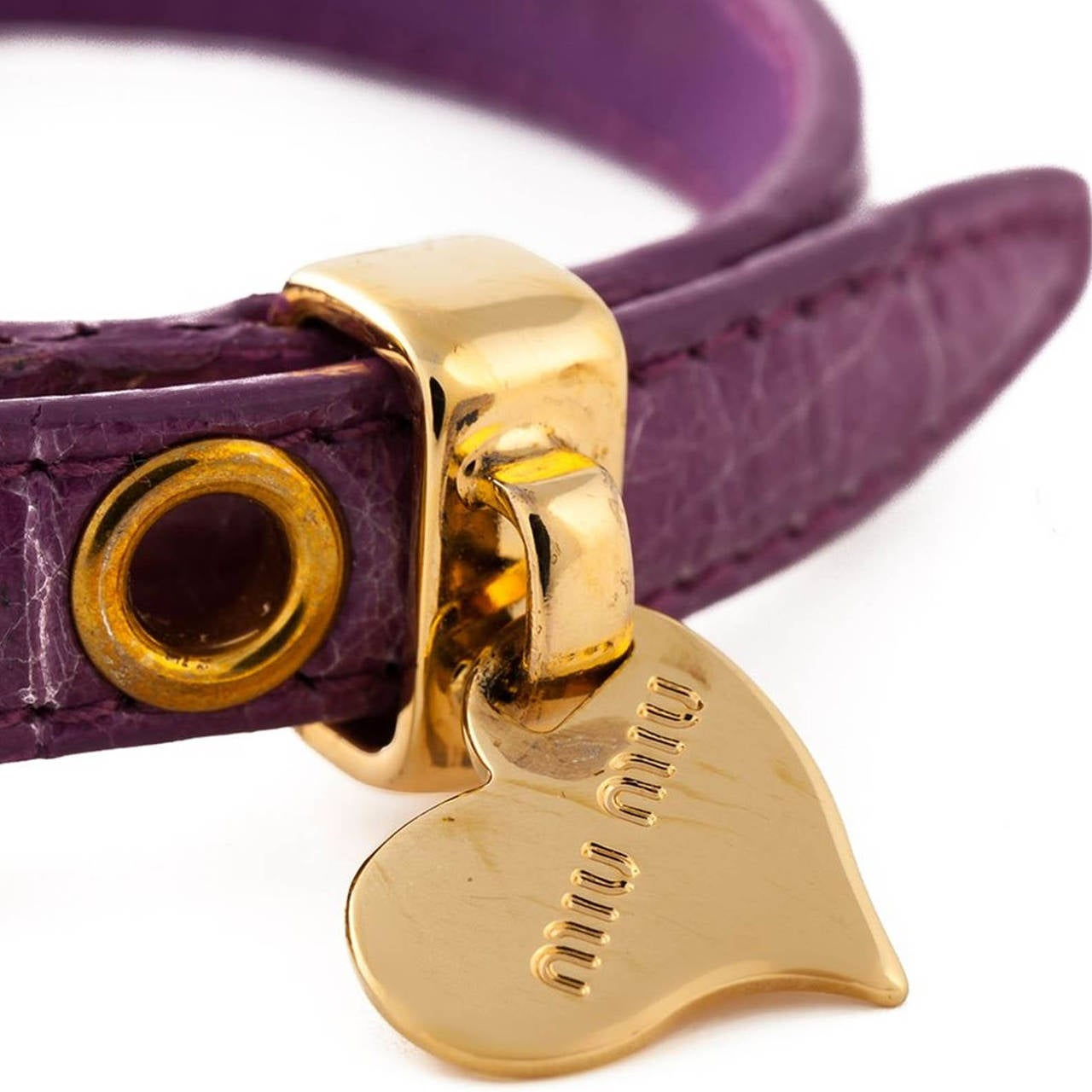 Miu Miu 'St. Cocco' Purple Bracelet 3