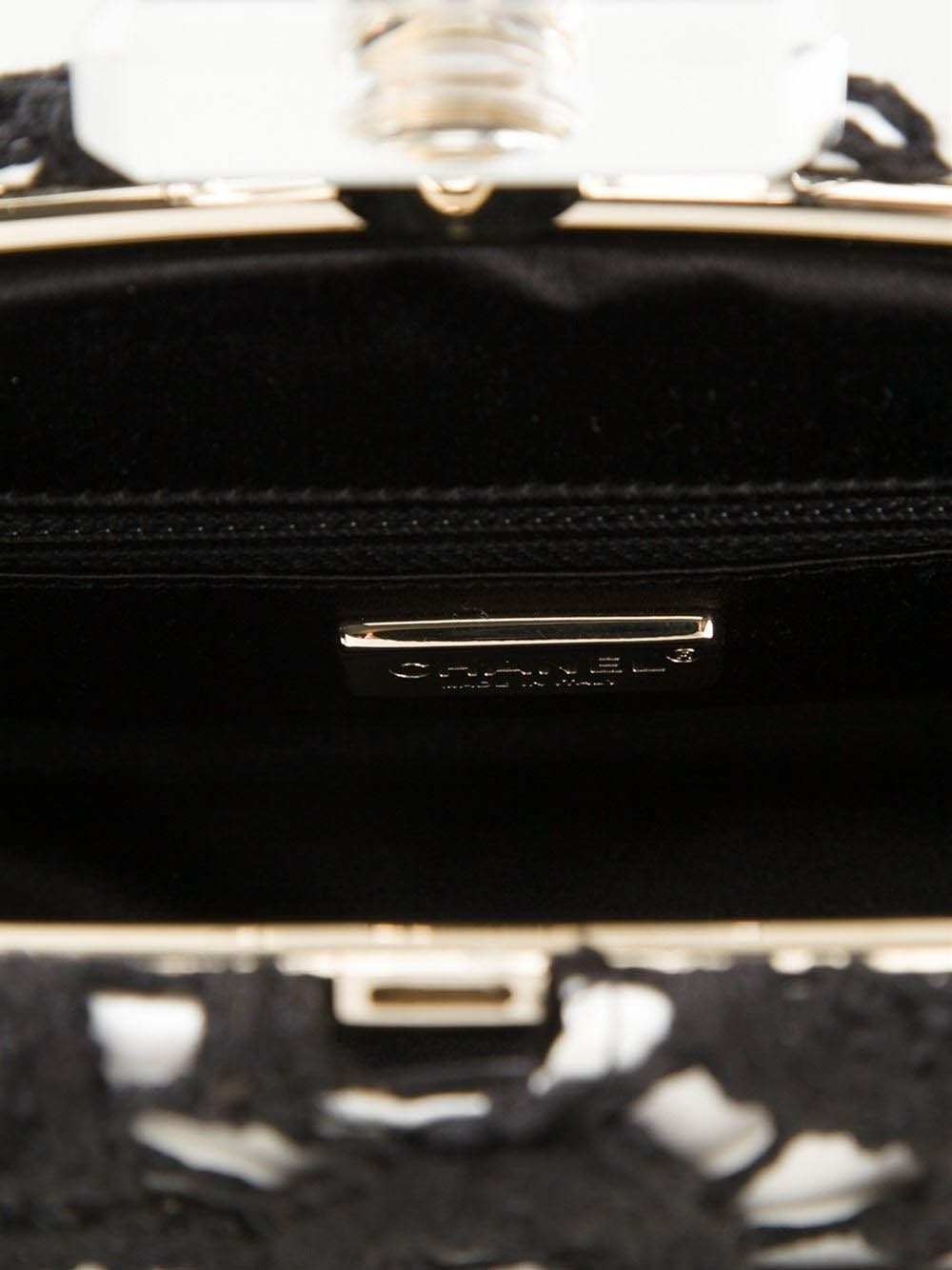 Chanel Large Floral Lace Clutch In Excellent Condition For Sale In London, GB