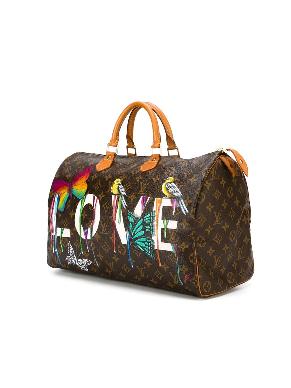 e1182778fa95 Customised Louis Vuitton Vintage  Dripping Love  Bag at 1stdibs