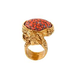 Yves Saint Laurent Oval Stone Ring