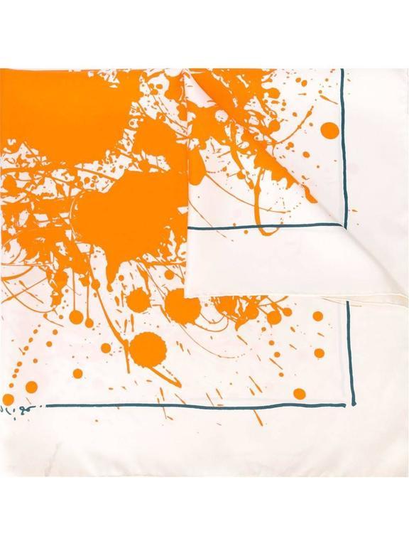 Hermes Paint Splatter Print Scarf at 1stdibs