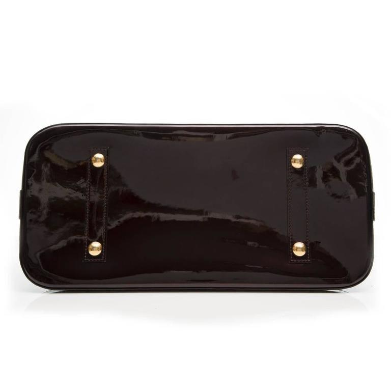 Black Louis Vuitton Amarante Vernis Alma For Sale