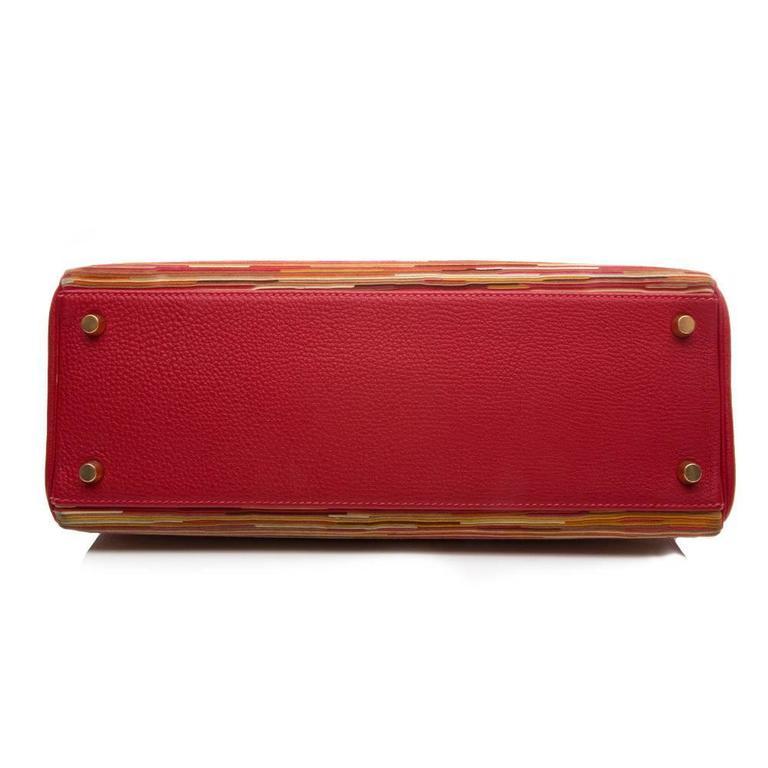 Hermes Red Vibrato 32cm Kelly 6