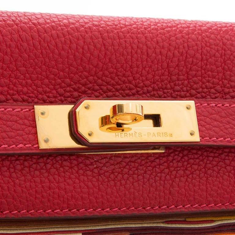 Hermes Red Vibrato 32cm Kelly 7