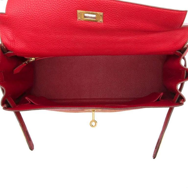 Hermes Red Vibrato 32cm Kelly 9