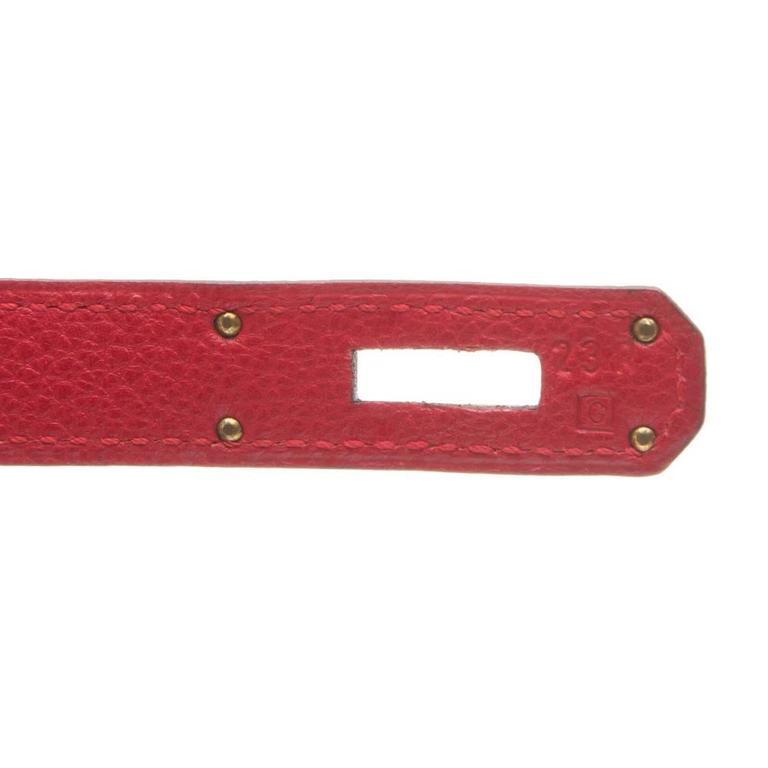 Hermes Red Vibrato 32cm Kelly 8